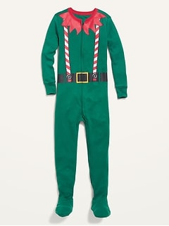 Unisex Elf Costume Footie Pajama One-Piece for Toddler & Baby