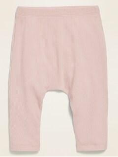 Unisex Rib-Knit U-Shaped Pull-On Pants for Baby