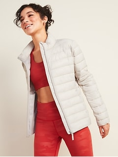 Go-H20 Water-Resistant Narrow-Channel Puffer Jacket for Women
