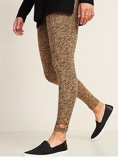 High-Waisted Jersey Side-Knot Leggings for Women