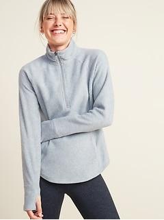 Go-Warm Micro Performance Fleece 1/4-Zip Sweatshirt for Women