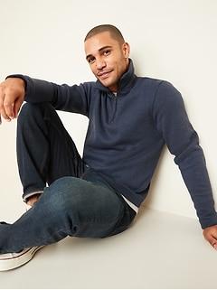Sweater-Fleece Mock-Neck 1/4-Zip Sweatshirt for Men