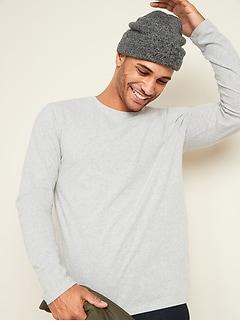 T-shirt à col rond et à manches longues au fini soyeux pour homme
