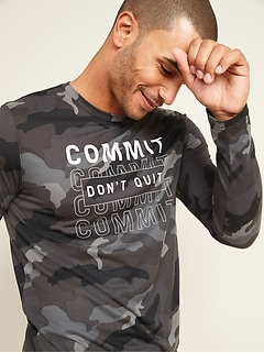 Go-Dry Cool Odor-Control Graphic Core Long-Sleeve Tee
