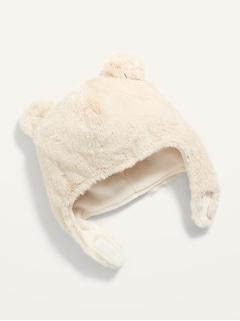 Tuque de trappeur à motif animalier en fausse fourrure pour bébé