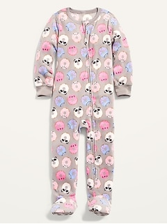 Micro Fleece Printed Footie Pajama One-Piece for Toddler & Baby