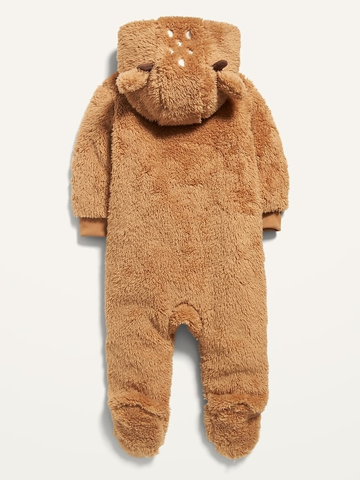 Unisex Deer-Critter Sherpa One-Piece for Baby