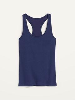 Rib-Knit Shelf-Bra Pajama Tank Top for Women