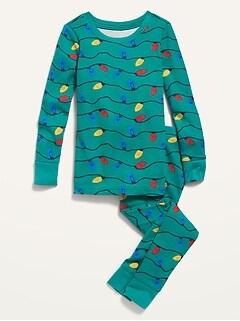 Printed Pajama Set for Toddler & Baby