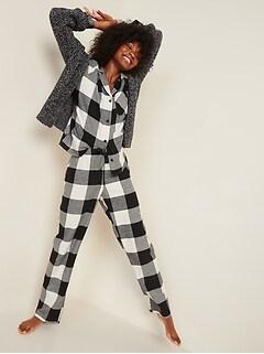 Pyjama en flanelle à motifs pour femme