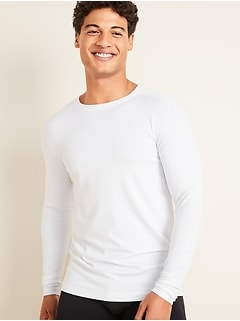 Go-Dry Cool Odor-Control Long-Sleeve Base Layer Tee for Men