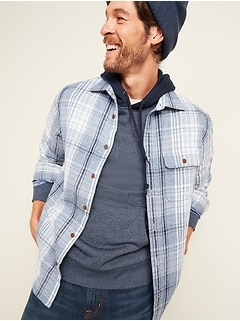 Regular-Fit Double-Brushed Cotton Shirt for Men