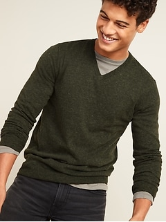 Soft-Washed V-Neck Sweater for Men