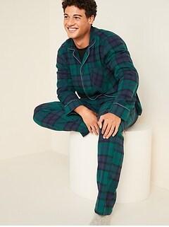 Pyjama en flanelle à carreaux pour homme