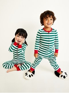 Striped Pajama One-Piece for Toddler & Baby