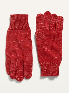 Sweater-Knit Gloves for Girls