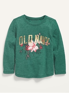 Logo-Graphic Scoop-Neck Tee for Toddler Girls