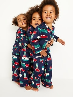 Unisex Holiday-Print Pajama Set for Toddler