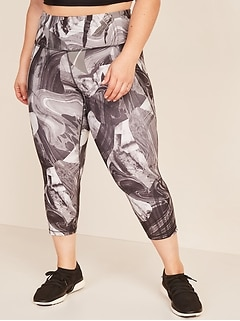 High-Waisted Elevate Powersoft Cropped Plus-Size Leggings