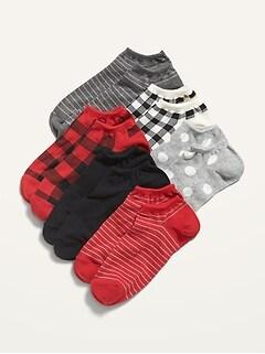 Novelty Ankle Socks 6-Pack for Women