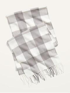 Écharpe unisexe en flanelle douillette pour homme et femme
