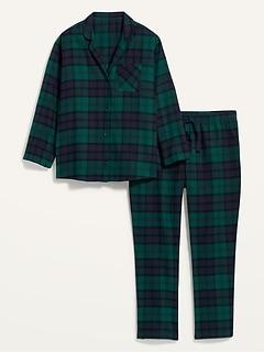Pyjama en flanelle à motifs, taille forte