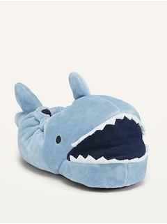 Unisex Micro Fleece Shark Slippers for Toddler & Baby