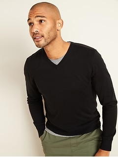 Soft Cotton V-Neck Sweater for Men