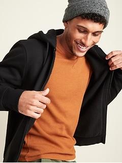 Cozy Sherpa-Lined Zip Hoodie for Men