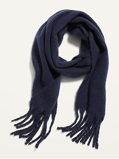 Cozy Soft-Brushed Fringed Scarf for Women