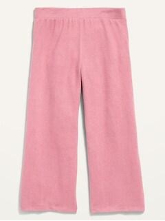 Pantalon à jambe large en tricot moelleux pour fille