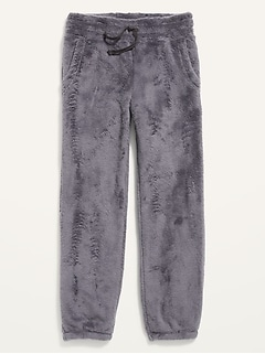Cozy Plush Sherpa Jogger Pants for Girls