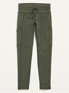Mid-Rise CozeCore Side-Pocket Leggings for Girls