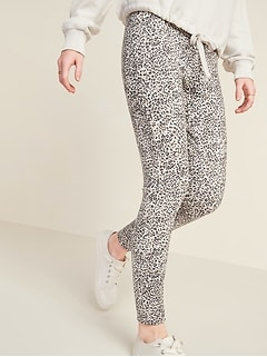 High-Waisted Stevie Ponte-Knit Printed Pants