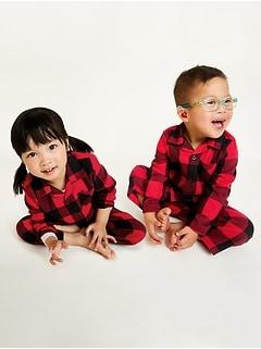 Pyjama à carreaux unisexe pour tout-petit et bébé