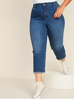 Extra High-Waisted Secret-Slim Pockets Sky-Hi Straight Plus-Size Jeans