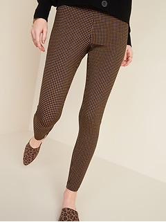 High-Waisted Stevie Printed Ponte-Knit Pants