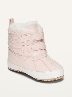 Cozy Faux-Fur-Lined Snow Boots for Baby