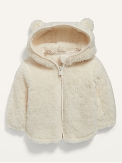 Sherpa Critter Zip Hoodie for Baby
