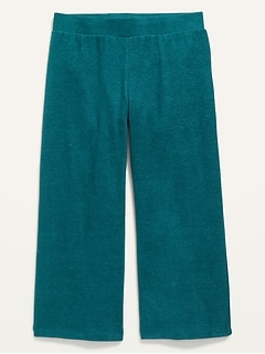 Cropped Wide-Leg Plush-Knit Pants for Girls