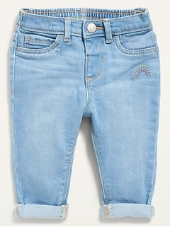 Unisex Boyfriend Skinny Light-Wash Jeans for Baby