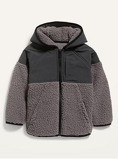 Color-Blocked Sherpa Jacket for Toddler Boys