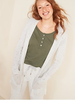 Long-Line Open-Front Sweater for Women