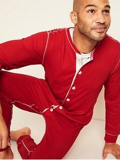Pyjama une-pièce en tricot gaufré au fini soyeux pour homme