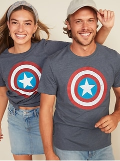 Marvel™ Captain America Graphic Gender-Neutral Tee for Men & Women