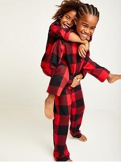 Pyjama unsiexe en flanelle à motifs pour enfant