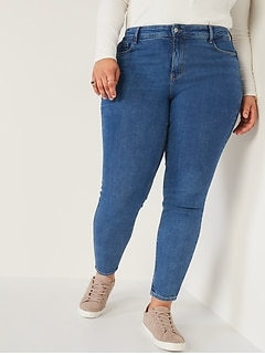 High-Waisted Secret-Slim Pockets Rockstar Super Skinny Plus-Size Jeans