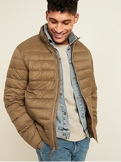 Water-Resistant Narrow-Channel Puffer Jacket for Men