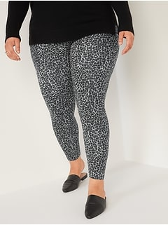 High-Waisted Printed Jersey Plus-Size Leggings
