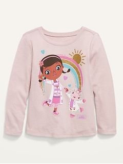 Disney© Doc McStuffins Graphic Long-Sleeve Tee for Toddler Girls
